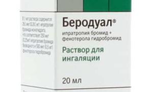 Беродуал для ингаляций взрослым: инструкция по применению в небулайзере